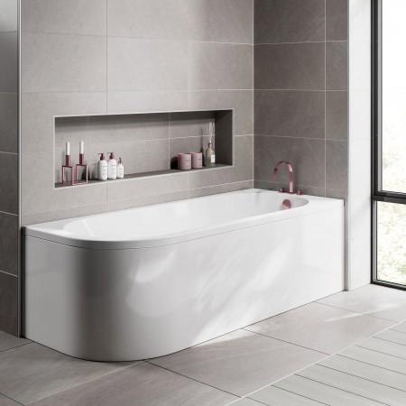 J RIGHT Shaped Bath  1700x700