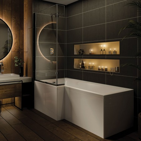 Shower Bath L Left Shaped...