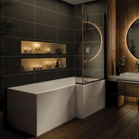 Shower Bath L Right Shaped...